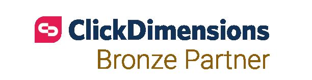 ClickDimensions Bronze Partner logo on Nemely