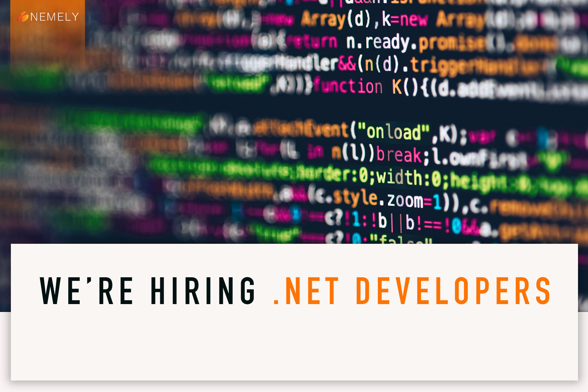 We're Hiring .NET Developer