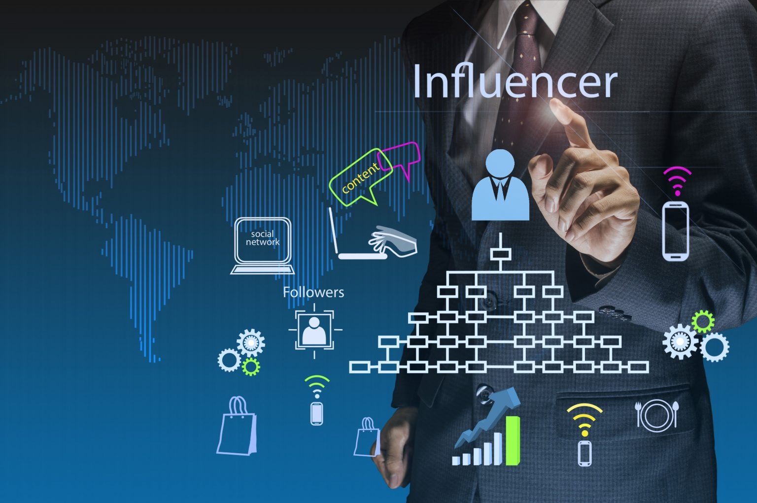 A business influencer and leader sharing and publishing online content for followers and customers